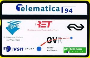 Ter gelegenheid van Telematica 94 werd door een aantal partners een speciale telefoonkaart aangeboden