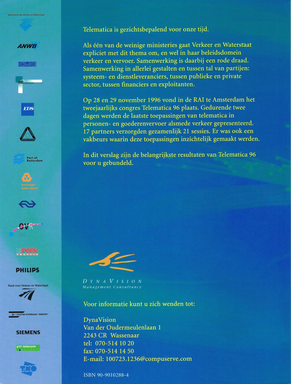 Eindverslag Telematica96 - achterkant