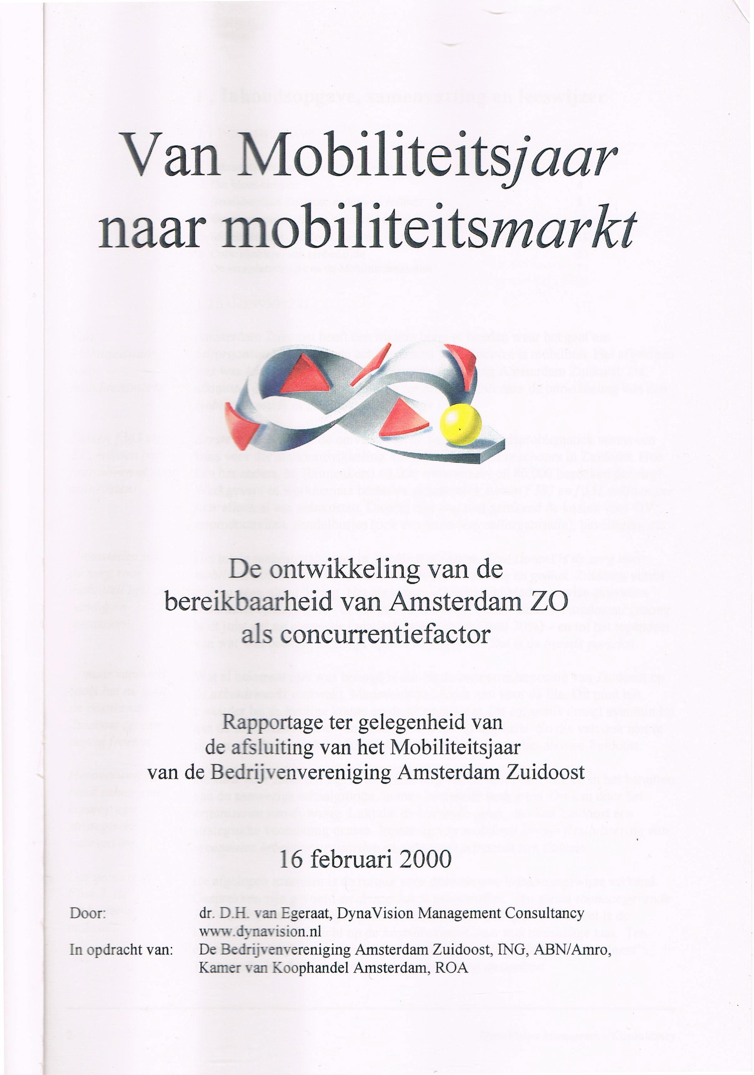 Van Mobiliteitsjaar naar Mobiliteitsmarkt