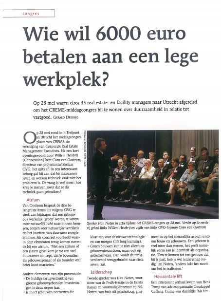 Verslag van het CREME congres van 28 mei 2008 in het juli nummer van Facto Magazine