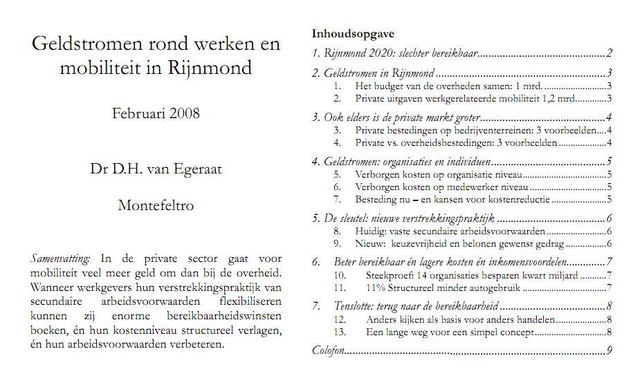 Ook in Rotterdam is in het debat over bereikbaarheid de kansen die de private markt biedt onderbelicht geraakt